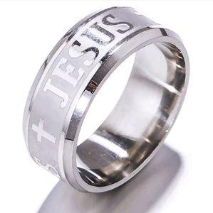 Jesus Cross Ring Stainless Steel12